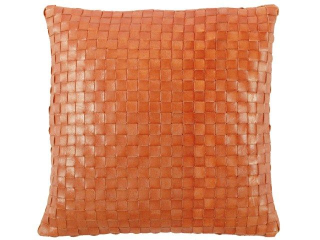 WEAVED LEATHER  CUSHION