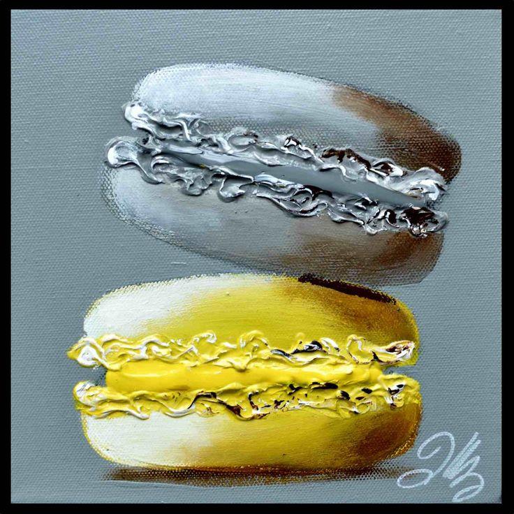 Macarons gris et jaune