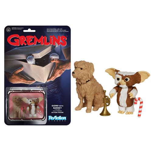 """Gremlins Gizmo with Barney 3 3/4"""" ReAction Collectible action figures"""