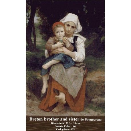 Model goblen Breton brother and sister de Bouguereau http://set-goblen.ro/portrete/3691-breton-brother-and-sister-de-bouguereau.html