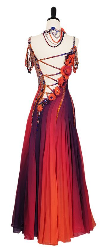 Ballroom Dance Dresses | Work Of Art | Smooth & Standard Dresses | Encore Ballroom Couture