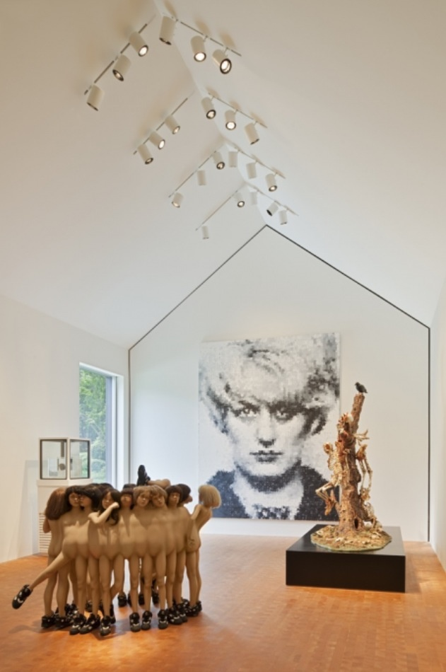 A few of my favorites in one brilliant space. Chuck Close and the Chapman Brothers in a simple, white, basic house shaped space. In my world heaven looks like this...