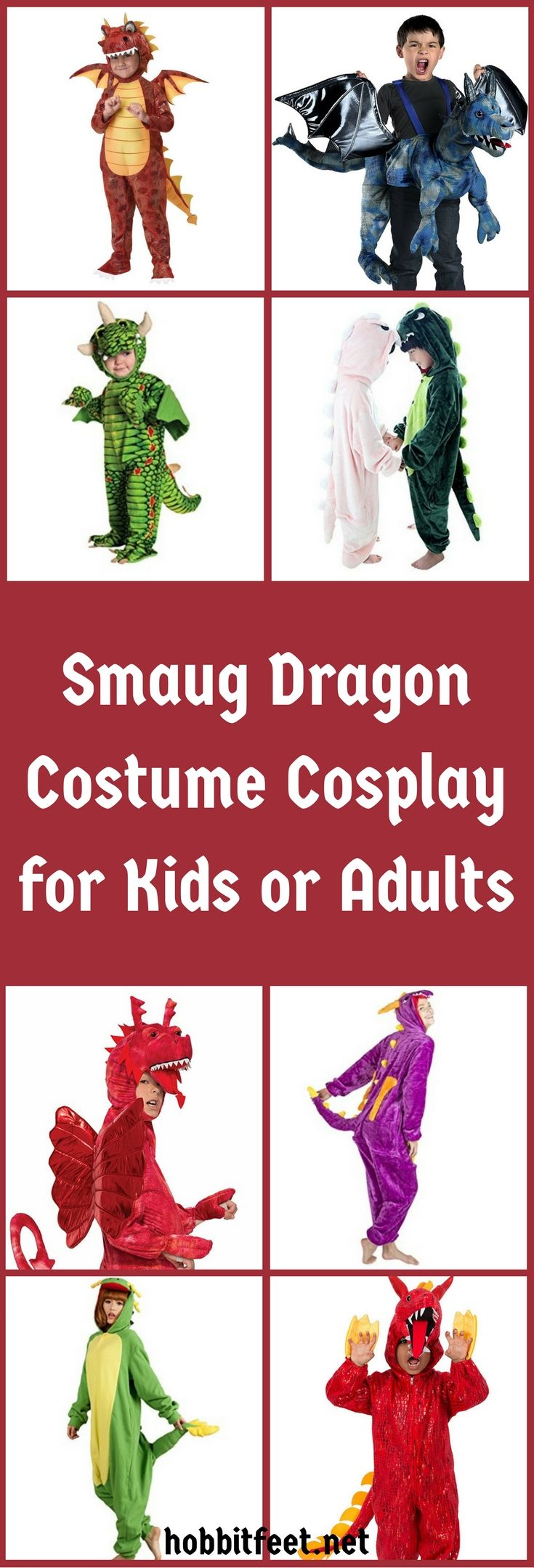 Smaug Dragon Costume Cosplay for Kids or Adults