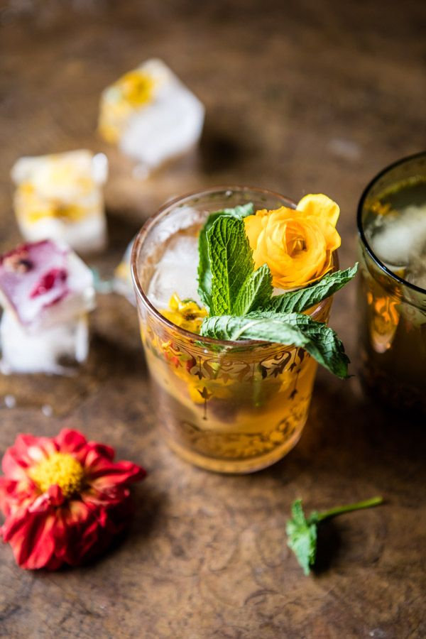 Iced Moroccan Mint Tea - Say hello to the perfect refreshing warm weather tea. From halfbakedharvest.com