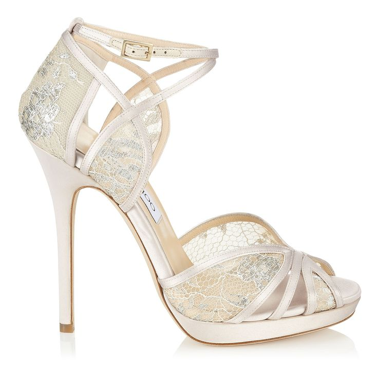 Fayme Ivory and White Satin Sandals   Fayme   Bridal   JIMMY CHOO
