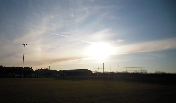 Sunset over Holker Old Boys FC