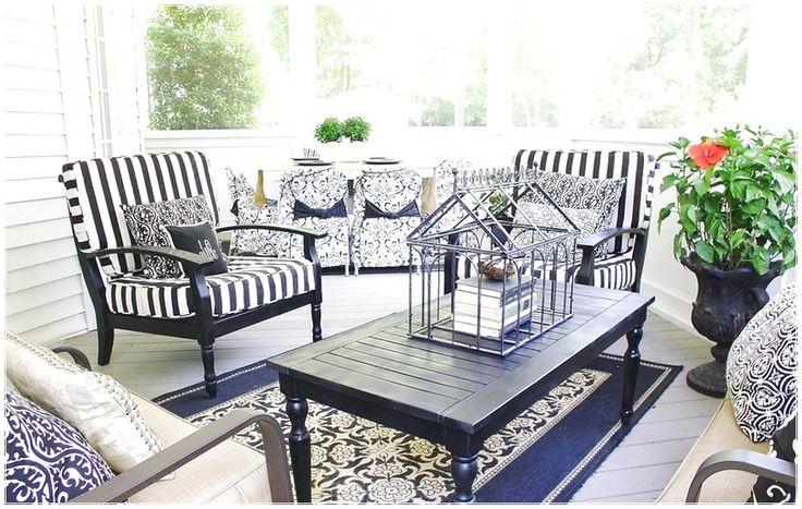 SIMPLE WAY TO PERFECT PORCH EASILY WITH DECOR BLACK SOFA