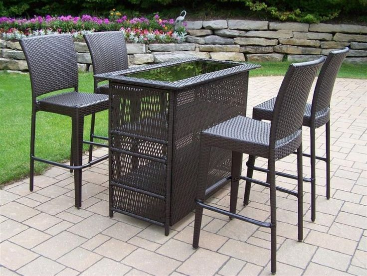 outdoor black stained wooden dining set cheap patio sets with best material - Cheap Patio Sets