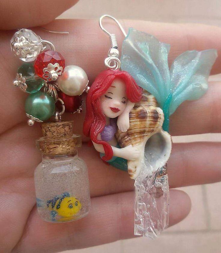 Ariel e flounder orecchini Sul mio fb https://m.facebook.com/ornella.art?ref=bookmarks