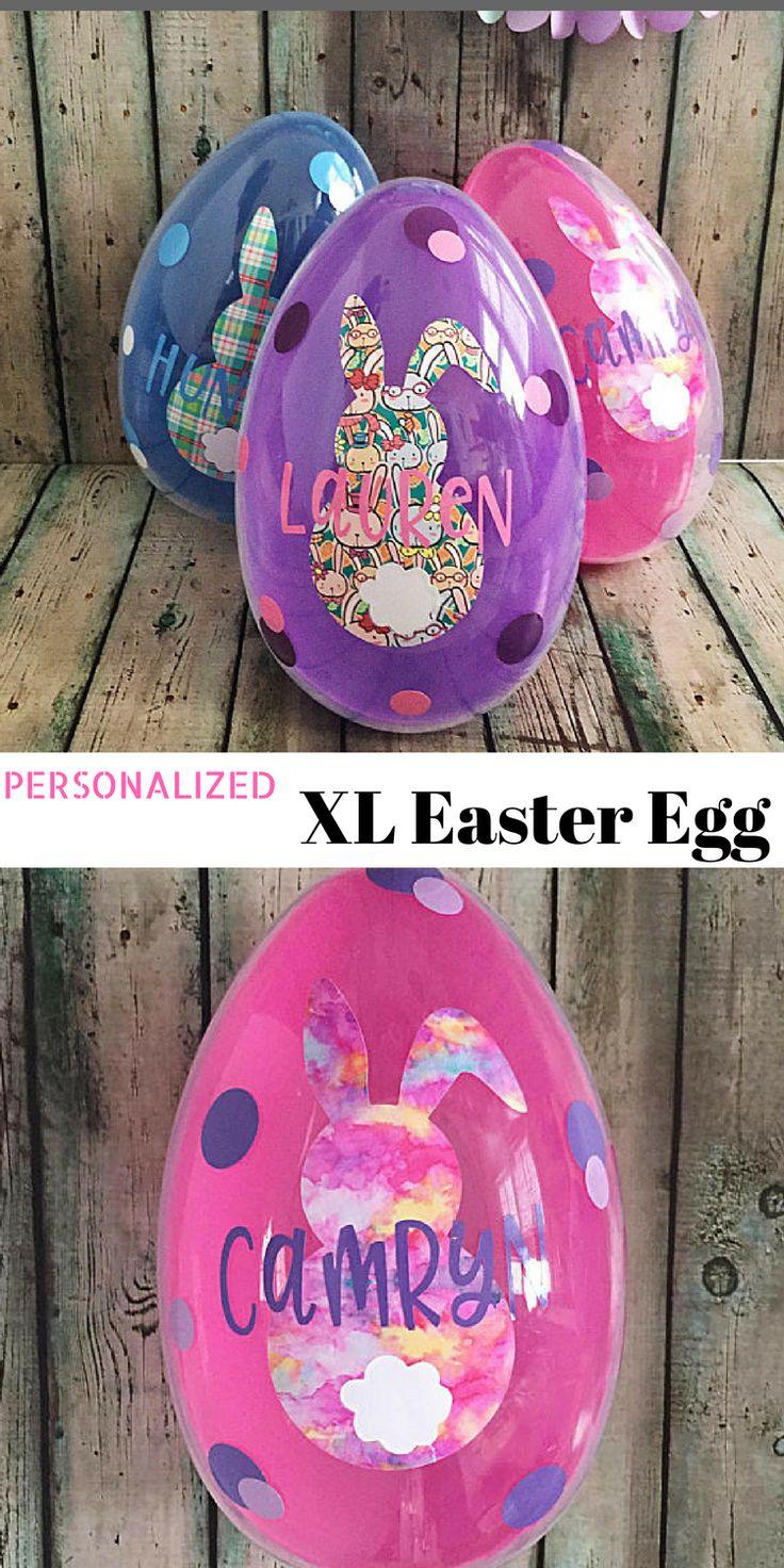Love This Unique Easter Basket Idea!  Personalized Jumbo Easter Egg     Large Fillable Easter Egg    Easter Gift for Kids   Giant Plastic Easter Egg   Decorated Large Easter Egg   #easter #eastereggs #easterbasket #afflink
