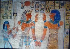 Resultado de imagen de Mural paintings in the Tomb of Rameses I.