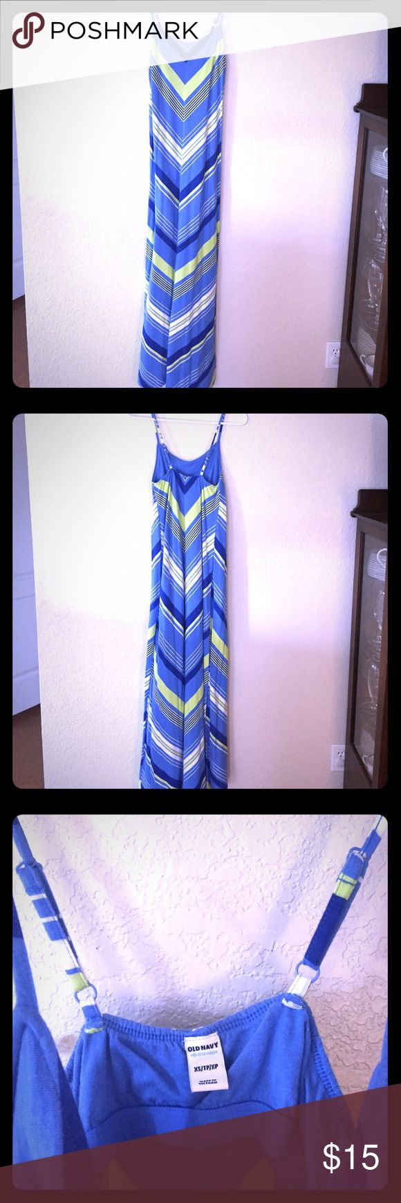 Women's old navy Cotten maxi sundress Old navy maxi sundress 100% Cotten with bra area lining; adjustable shoulder straps Old Navy Dresses Maxi