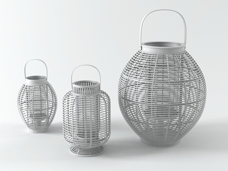 Decospot | Candlesticks & Lanterns | Atipico Mekong Grey Lanterns. Available at decospot.be webshop.