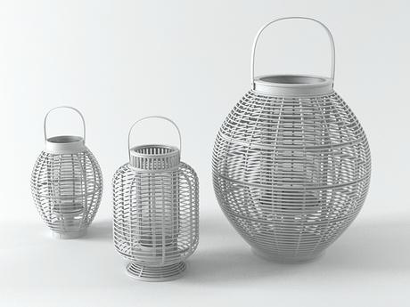 Decospot | Candlesticks & Lanterns | Atipico Mekong Grey Lanterns. Available at decospot.be webshop.