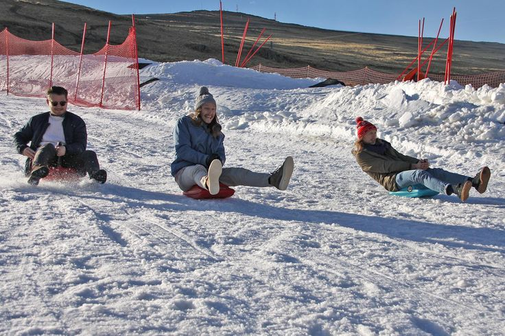 Desmond and the Tutus enjoying the slopes during Afriski Winter Festival 2017.