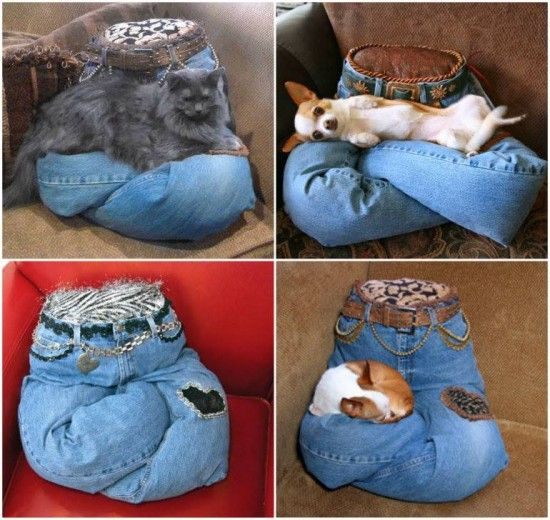 Pet Lap Pillow Is Made From Your Denim Jeans Pillow Beds