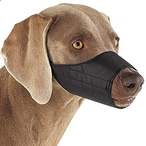 Dog Muzzle - Guardian-Gear-Lined-Nylon-Muzzles-Versatile-Muzzles-for-Dogs-7-Snout-Size-3-Black