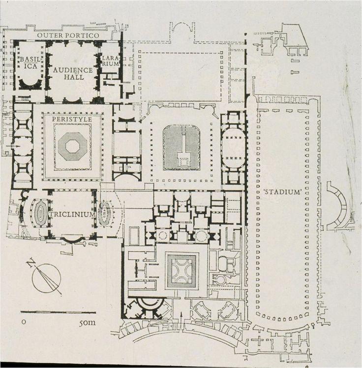 Plan, Flavian Palace (domus Augustana). Rome