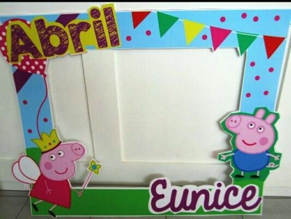 Ideas Para Una Fiesta Temática Peppa Pig De Cumpleaños Fiesta Tematica Peppa Pig Peppa Pig Cuadros Para Fiestas