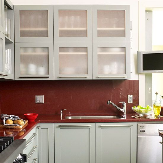 Red Kitchen Backsplash Ideas: Colorful Kitchen Backsplash Ideas