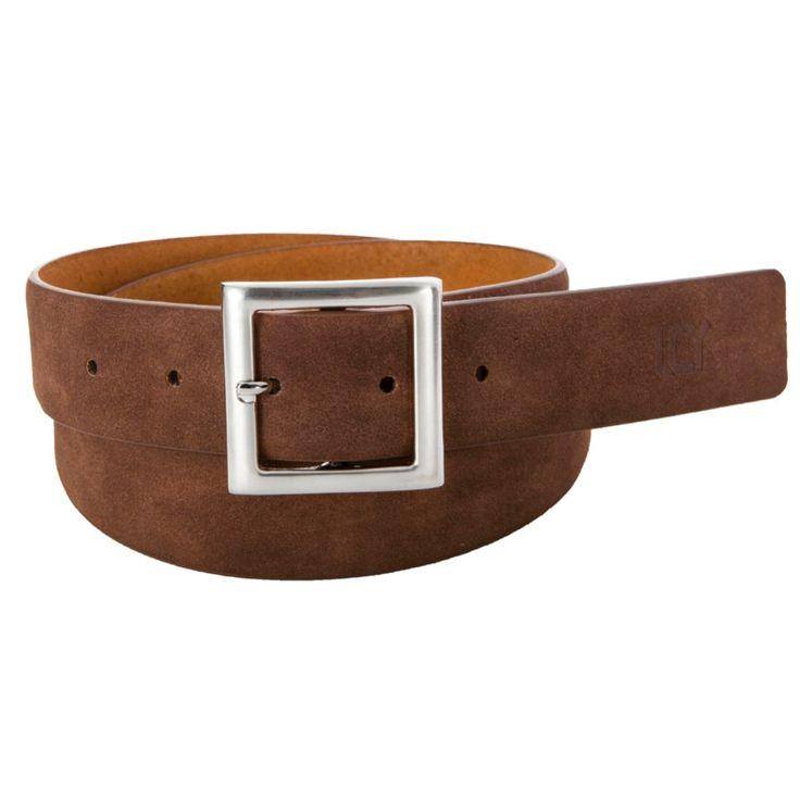 Hot Bonded Leather Belt Brown $9.64