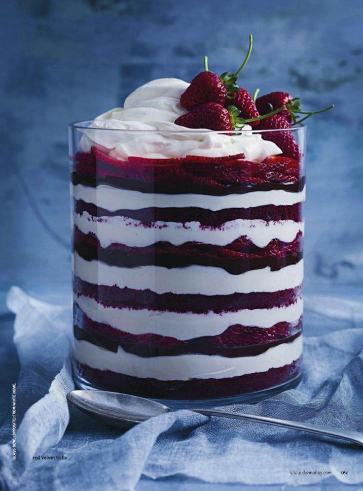 red velvet trifle.  donna hay mag
