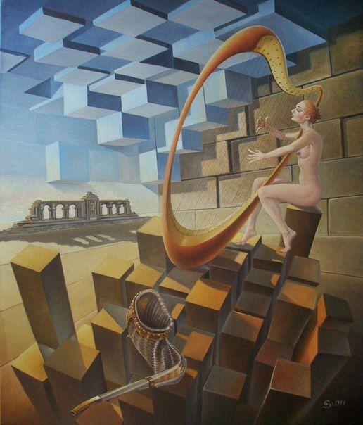 Gyuri Lohmuller #art #oil #canvas #paintings #sale #original #surreal #symbolic #symbolism #fantasy #conceptual #realism #surrealism #world #music #religion #sky #belief #phylosophy #mythology