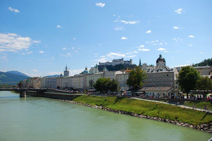 Salzburg. Stare miasto Salzburga o dużych walorach historycznych zostało wpisane w 1996 na Listę światowego dziedzictwa kulturowego UNESCO.  Fot. Paweł Paśnik