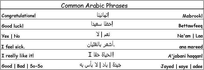 Common Arabic Phrases - Learn Arabic