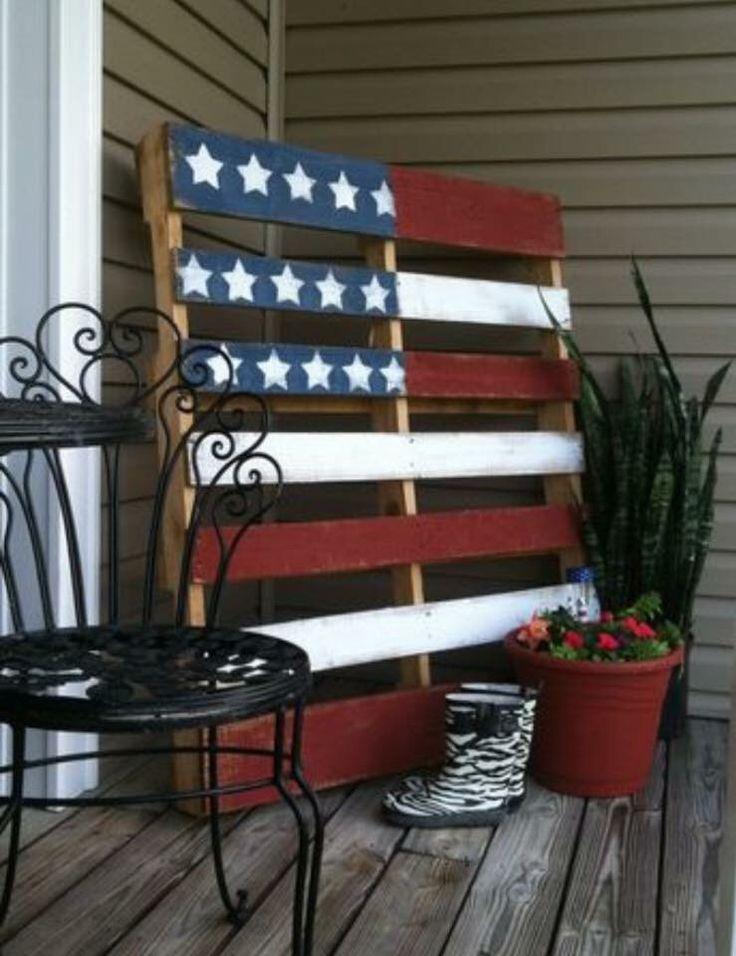 Patriotic decoration for front porch