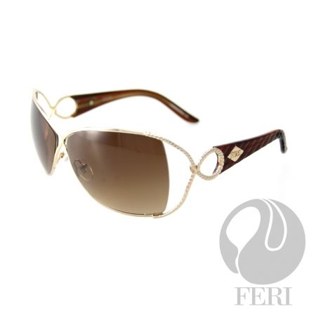 FERI Rome - Brown Shield - FERI frames are manufactured in Italy - Lenses are UV 400 and provide protection against harmful UV rays - Mazzucchelli acetate is used - Mazzucchelli is the world leader in acetate production - Acetate is a hypo allergenic plastic - Acetate is used for its shine, color depth and durability  Invest with confidence in FERI Designer Lines.