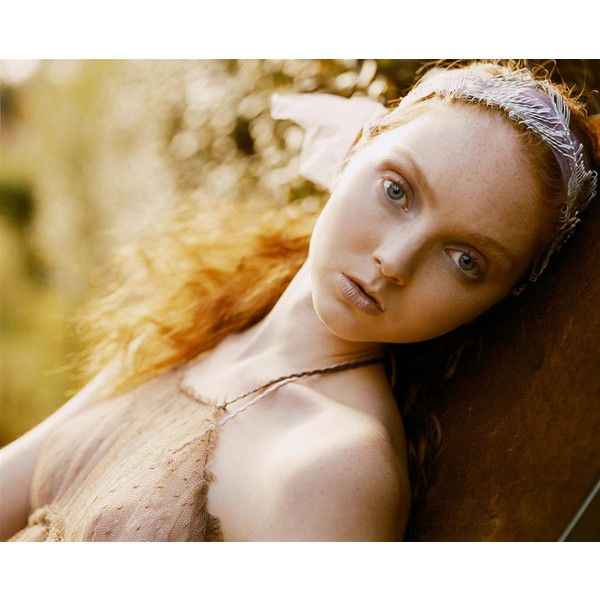 Morning Beauty Lily Cole by Carter Smith ❤ liked on Polyvore featuring models, backgrounds and editorials