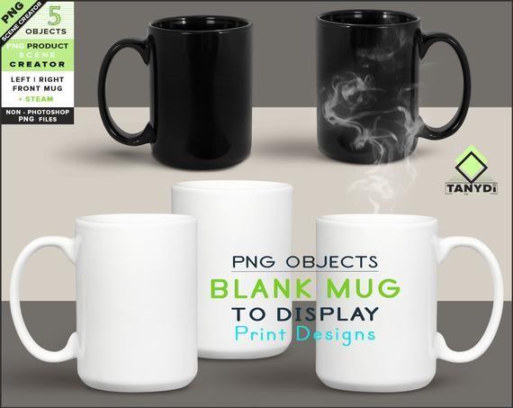 Blank Png Coffee Mug 3 Png White Mugs M10 Left Front Right Etsy Mugs Coffee Mugs Scene Creator