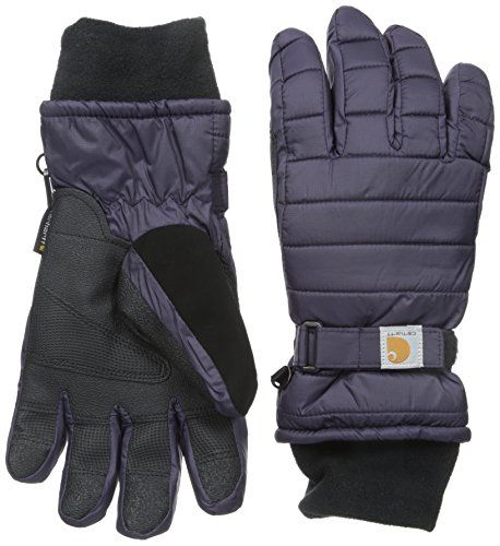 Carhartt Women's Quilts Insulated Breathable Glove with Waterproof Wicking Insert Nightshade Small