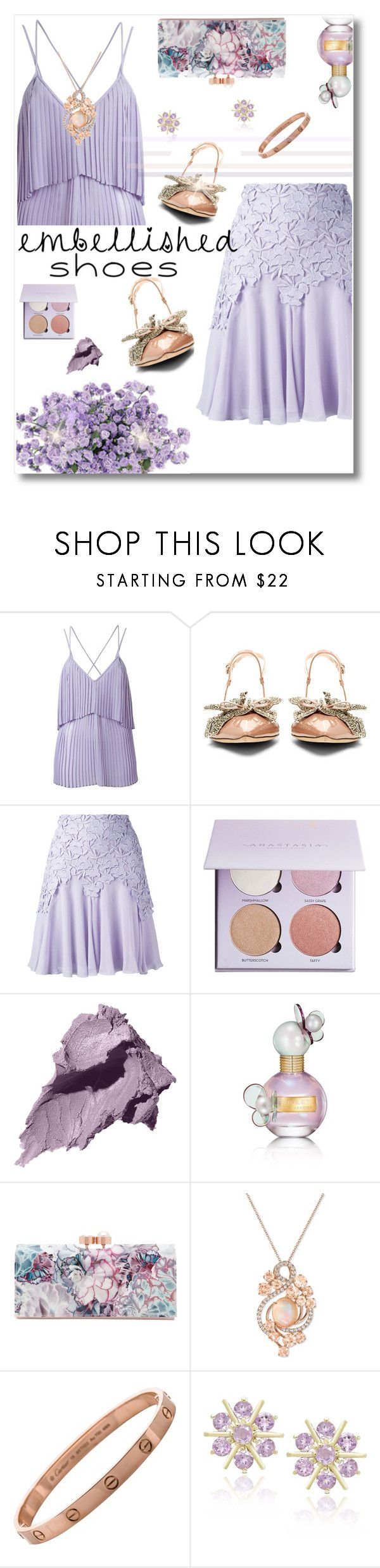 """Magic Slippers: Embellished Shoes"" by iraavalon ❤ liked on Polyvore featuring Elie Saab, Rochas, Giambattista Valli, Anastasia Beverly Hills, Bobbi Brown Cosmetics, Marc Jacobs, Ted Baker, LE VIAN, Dolce Giavonna and embellishedshoes"