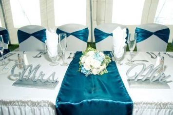 Teal Table Decorations Home Safe Wedding