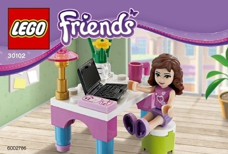 Lego Friends 30102 Olivia biurko laptop *NOWE*