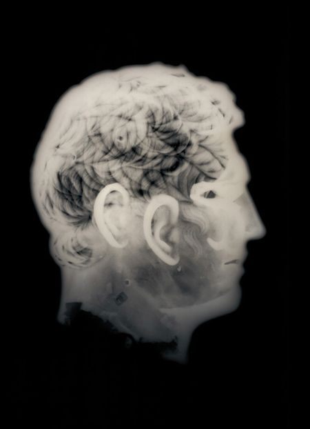 Photographs of museum x-rays by David Maisel