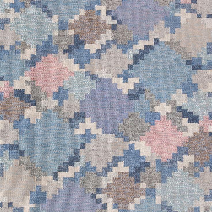 "Wooly - ""Swedish Pixels"" #rare #vintage #swedish #rug #midcentury"
