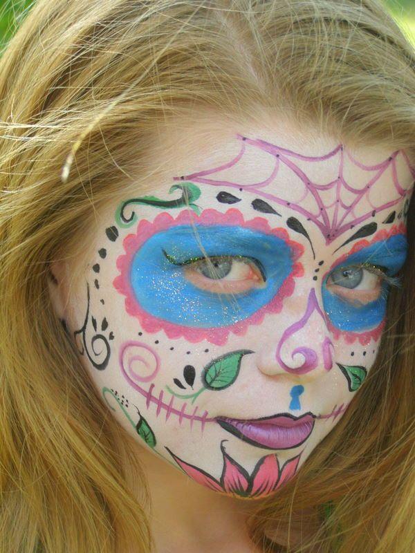 Sugar skull for kids????   FANCY FACES   Pinterest