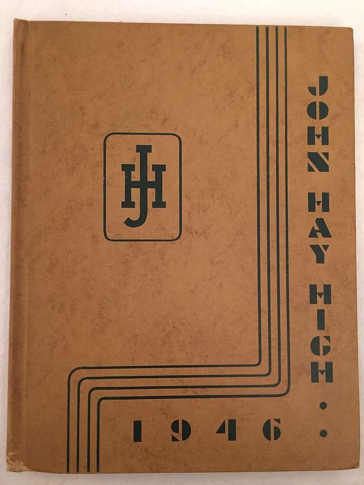 1946 John Hay High School Yearbook Cleveland Ohio OH Annual