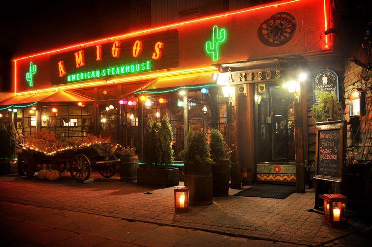 Amigos Steakhouse – Amerykańska restauracja w Warszawie....świetna kuchnia ...wystrój- ciekawy...