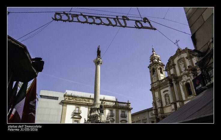 #statua dell'Immacolata #chiesa di San Domenico #ingresso mercato vucciria #Palermo