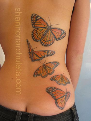 Finished Monarch Butterfly Tattoo - http://shannonarchuleta.com