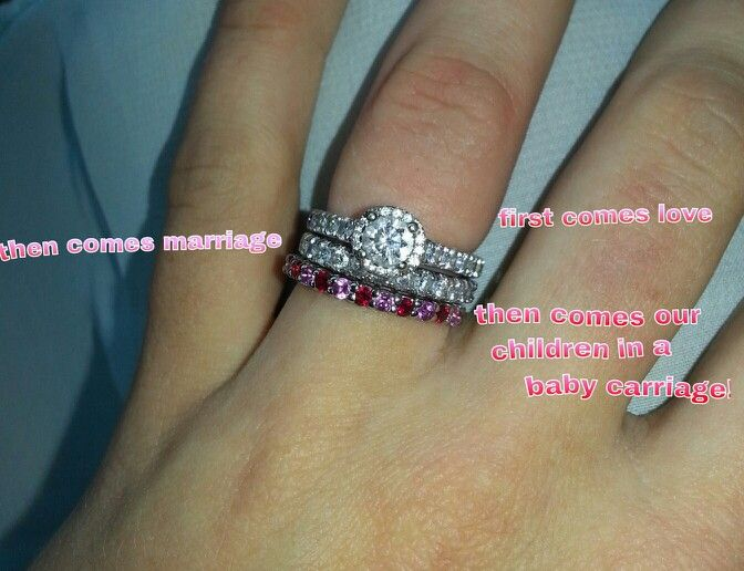 My Husband Bought Me A Baby Carriage Ring To Match Wedding Band With Our Children S Birth Stones In It Xander Is October He The Pi