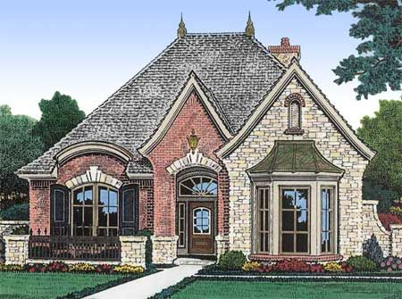 Plan 48033FM Petite French Cottage