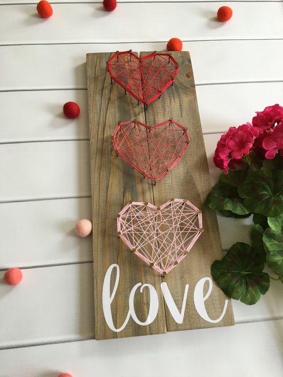 String Art Customizable String Art Love от CustomizedByAshley