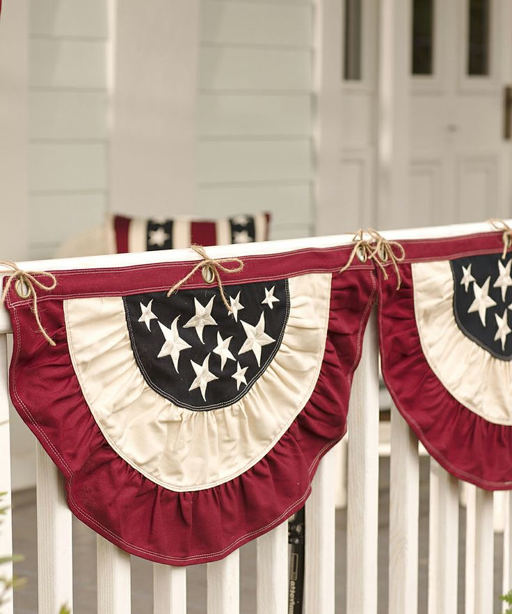 Patriotic Bunting - love this.  I use to display patriotic bunting on my former home and it looked so neat, especially from the road. This particular bunting reminds me of something you would see during President Lincoln's era.