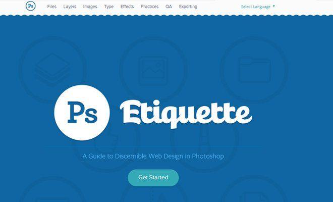 photoshop etiquette website header design