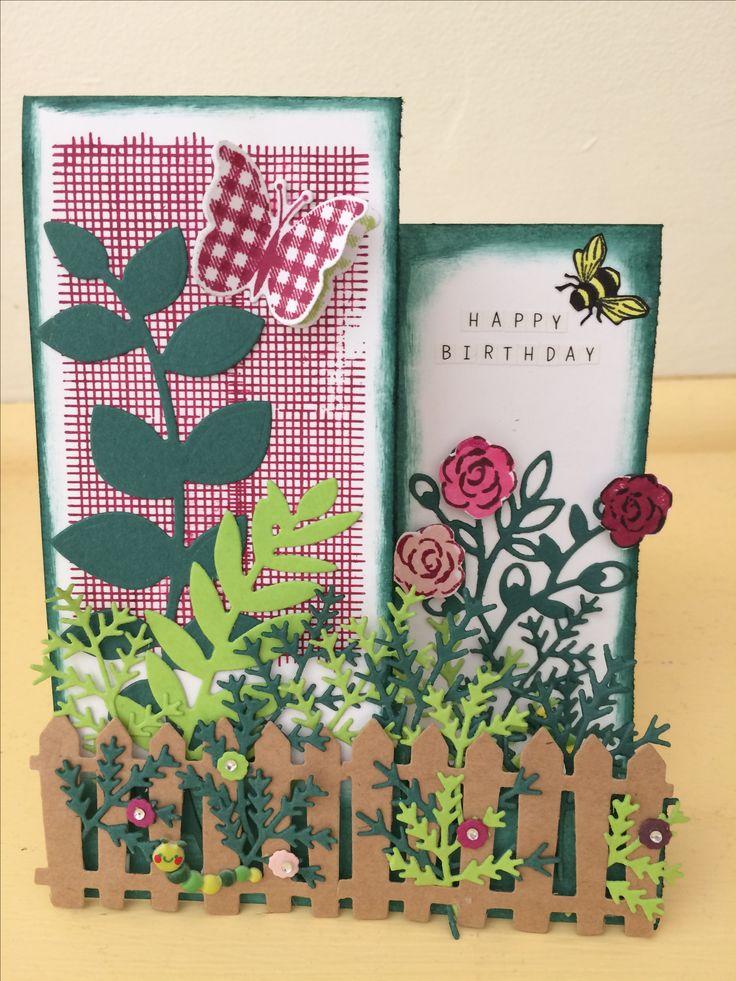 Garden card #handmadebyme  July 2017